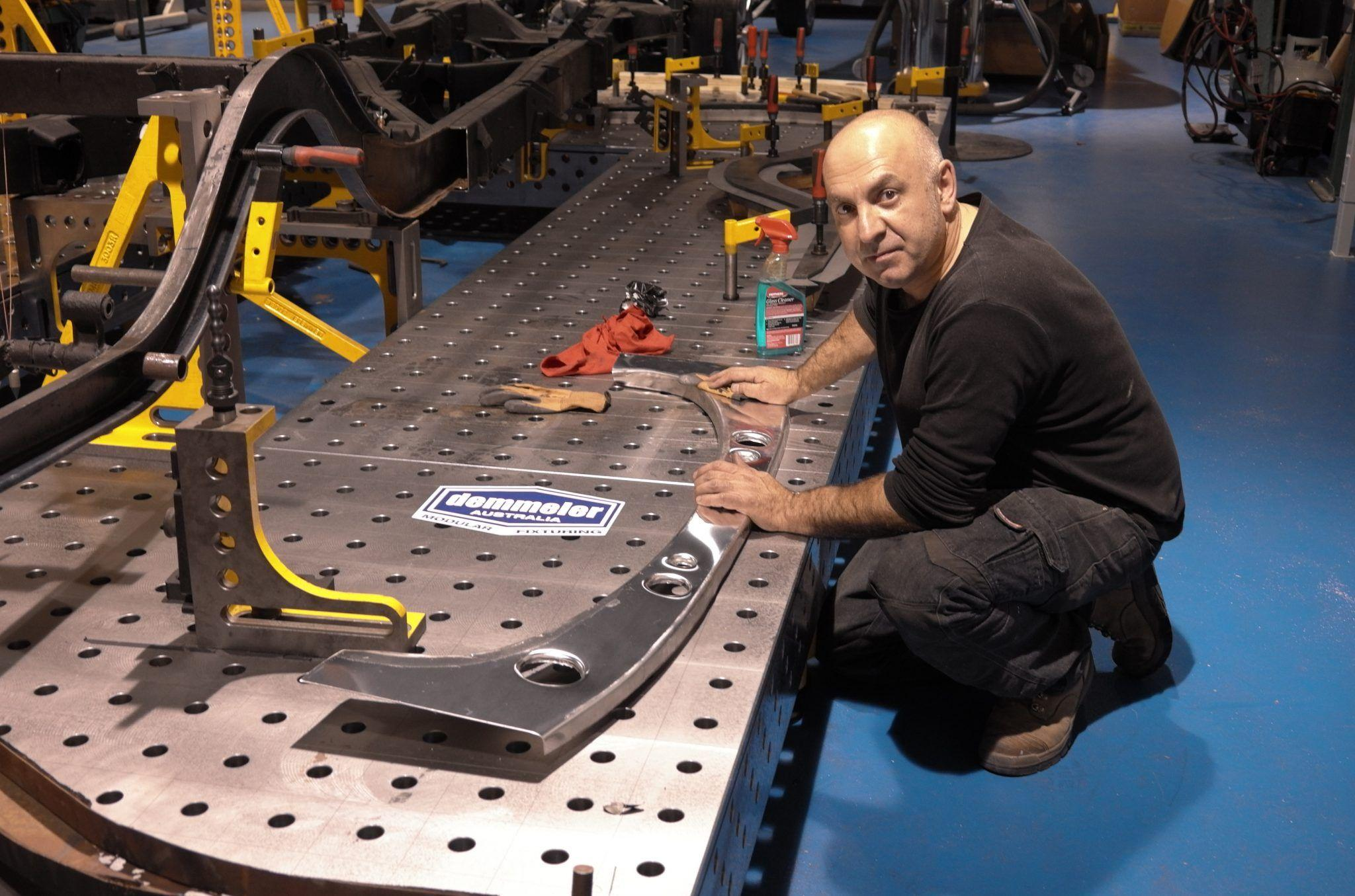 Renowned car restorer Brian Tanti utilises Demmeler welding & fixturing table system in his classic car restoration business